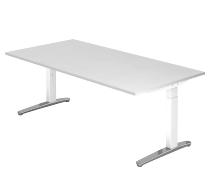 Hammerbacher XB2E Schreibtisch C-Fuß (BxT) 200x100cm Weiß/WeißPo