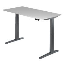 Sitz-Steh-Schreibtisch XBHM16 elektrisch (BxT) 160x80cm Grau/Graphit
