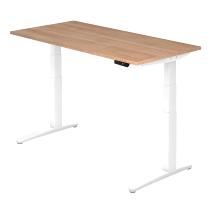 Sitz-Steh-Schreibtisch XBHM16 elektrisch (BxT) 160x80cm Nussbaum/Weiß