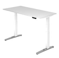 Sitz-Steh-Schreibtisch XBHM16 elektrisch (BxT) 160x80cm Weiß/WeißPo
