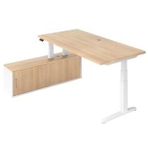 Steh-/Sitz-Schreibitischkombination XBHM2C elektr. höhenverstellbar Eiche/Weiß