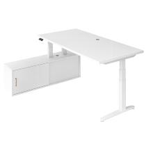 Steh-/Sitz-Schreibitischkombination XBHM2C elektr. höhenverstellbar Weiß/Weiß