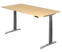 Sitz-Steh-Schreibtisch XBHM2E elektrisch (BxT) 200x100cm Ahorn/GraphitPo