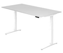 Sitz-Steh-Schreibtisch XBHM2E elektrisch (BxT) 200x100cm Weiß/Weiß