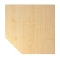 Trapezplatte XBT12 120x120cm mit Konsole+Stützfuss Ahorn/Graphit