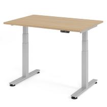 Schreibtisch XDSM12 TRAVERSEless Steh-/Sitzarbeitsplatz (BxT) 120x80cm Memory 2-stufig höhenverstellbar von 63,5-128,5cm Eiche