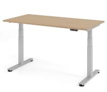 Schreibtisch XDSM16 TRAVERSEless Steh-/Sitzarbeitsplatz (BxT) 160x80cm Memory 2-stufig höhenverstellbar von 63,5-128,5cm Eiche