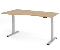 Schreibtisch XDSM18 Freiform TRAVERSEless Steh-/Sitzarbeitsplatz (BxT) 180x100/80cm Memory 2-stufig höhenverstellbar von 63,5-128,5cm Eiche