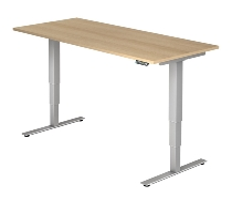 Schreibtisch XDSM19 TRAVERSEless Steh-/Sitzarbeitsplatz (BxT) 180x80cm Memory 2-stufig höhenverstellbar von 63,5-128,5cm Eiche