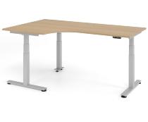 Schreibtisch XDSM82 TRAVERSEless Winkelform 90° Steh-/Sitzarbeitsplatz (BxT) 200x120cm Memory 2-stufig höhenverstellbar von 63,5-128cm Eiche