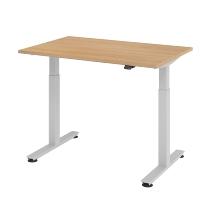 Schreibtisch XMST12 TRAVERSEless Steh-/Sitzarbeitsplatz T-Fuß (BxT) 120x80cm Elektroantrieb 1-stufig Arbeitshöhe 72-119cm Eiche