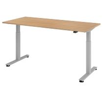 Schreibtisch XMST19 TRAVERSEless Steh-/Sitzarbeitsplatz (BxT) 180x80cm 1-stufig höhenverstellbar 72-119cm Eiche