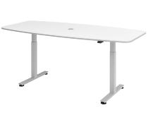 XMST22 Konferenztisch elektr. höhenverstellbar Tastschalter Weiß