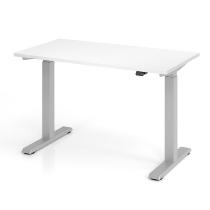 Schreibtisch XMST612 TRAVERSEless Steh-/Sitzarbeitsplatz T-Fuß (BxT) 120x67cm Elektroantrieb 1-stufig Arbeitshöhe 72-119cm Weiß