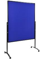 Legamaster 7-205410 Moderationswand Premium Plus MOBIL klappbar 150x120cm Textil marineblau