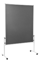 Legamaster 7-209000 Moderationswand ECONOMY starr 150x120cm Filz grau