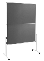 Legamaster 7-209300 Moderationswand ECONOMY klappbar 150x120cm Filz grau