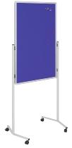 Legamaster 7-210400 Multiboard Pinboard-Whiteboard-Flipchart 120x76cm mobil Pinboard-Filz marineblau