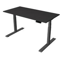 Kerkman Smart office Steh-/Sitztisch C-Fuß Gestell Anthrazit (BxTxH) 140x70x63x127cm Anthrazit