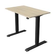 Kerkmann 1802 Steh-/Sitztisch Move 1 T-Fuß Anthrazit (BxTxH) 100x60x Höhe 74-123cm elektr. Ahorn
