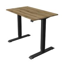 Kerkmann 1803 Steh-/Sitztisch Move 1 T-Fuß Anthrazit (BxTxH) 100x60x Höhe 74-123cm elektr. Eiche