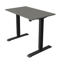 Kerkmann 1804 Steh-/Sitztisch Move 1 T-Fuß Anthrazit (BxTxH) 100x60x Höhe 74-123cm elektr. Grafit