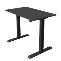 Kerkmann 1805 Steh-/Sitztisch Move 1 T-Fuß Anthrazit (BxTxH) 100x60x Höhe 74-123cm elektr. Anthrazit
