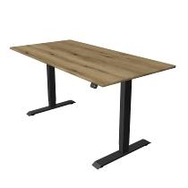 Kerkmann 1815 Steh-/Sitztisch Move 1 T-Fuß Anthrazit (BxTxH) 160x80x Höhe 74-123cm elektr. Eiche