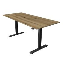 Kerkmann 1821 Steh-/Sitztisch Move 1 T-Fuß Anthrazit (BxTxH) 180x80x Höhe 74-123cm elektr. Eiche