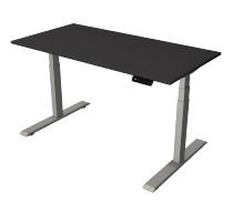 Kerkman Smart office Steh-/Sitztisch C-Fuß Gestell Silber (BxTxH) 140x70x63x127cm Anthrazit