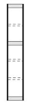 Kerkmann 2092 Regal Progress 2000 Endseite (TxH) 30 X 225cm Schwarz