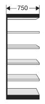 Kerkmann 2135 Regal Progress 2000 Regalfeld (TxBxH) 30 X 75 X 225cm Schwarz/Grau