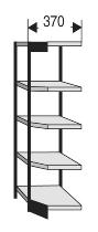 Kerkmann 2181 Büro-Regal Progress 2000 Eckfeld (TxH) 30 X 190cm Schwarz/Grau