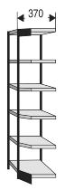 Kerkmann 2185 Büro-Regal Progress 2000 Eckfeld (TxH) 30 X 225cm Schwarz/Grau