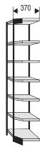 Kerkmann 2189 Büro-Regal Progress 2000 Eckfeld (TxH) 30 X 260cm Schwarz/Grau