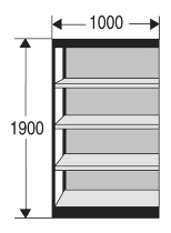 Kerkmann 2211 Büro-Regal Progress 2000 Regalfeld mit Rückwand (TxBxH) 30 X 100 X 190cm Schwarz/Grau