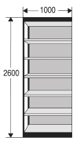 Kerkmann 2251 Regal Progress 2000 Regalfeld mit Rückwand (TxBxH) 30 X 100 X 260cm Schwarz/Grau