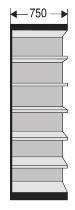 Kerkmann 2255 Regal Progress 2000 Regalfeld mit Rückwand (TxBxH) 30 X 75 X 260cm Schwarz/Grau