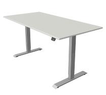 Kerkmann 2271 Sitz-/Stehtisch MOVE 1 T-Fuß Silber (BxTxH) 160x60x Höhe 74-123cm elektr. Lichtgrau