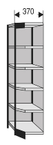 Kerkmann 2285 Regal Progress 2000 Eckfeld mit Rückwand (TxH) 30 X 225cm Schwarz/Grau