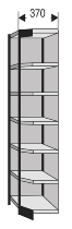 Kerkmann 2289 Regal Progress 2000 Eckfeld mit Rückwand (TxH) 30 X 260cm Schwarz/Grau