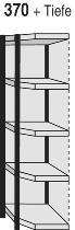 Kerkmann 2539 Magazin-Regal Stora 100 Eckregalfach mit Rückwand (TxH) 300 X 1900mm Silber/Grau