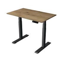 Kerkmann 2703 Kompakt Steh-/Sitztisch Move 2 Gestell Anthrazit (BxTxH) 100x60x63-127cm Eiche