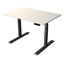 Kerkmann 2705 Steh-/Sitztisch Move 2 Gestell Anthrazit (BxTxH) 120x80x63-127cm Weiß