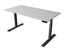 Kerkmann 2711 Steh-/Sitztisch Move 2 Gestell Anthrazit (BxTxH) 160x80x63-127cm Lichtgrau