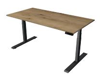 Kerkmann 2713 Steh-/Sitztisch Move 2 Gestell Anthrazit (BxTxH) 160x80x63-127cm Eiche