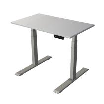Kerkmann 2755 Kompakt Steh-/Sitztisch Move 2 Gestell Silber (BxTxH) 100x60x63-127cm Lichtgrau