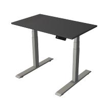 Kerkmann 2757 Kompakt Steh-/Sitztisch Move 2 Gestell Silber (BxTxH) 100x60x63-127cm Anthrazit