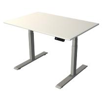 Kerkmann 2758 Steh-/Sitztisch Move 2 Gestell Silber (BxTxH) 120x80x63-127cm Weiß