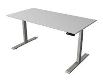 Kerkmann 2763 Steh-/Sitztisch Move 2 Gestell Silber (BxTxH) 160x80x63-127cm Lichtgrau
